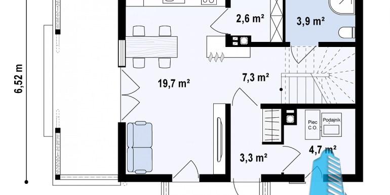 casa de lemn dupa tehnologie canadiana cu parter si mansarda plan parter