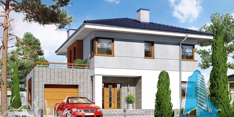 proiect de casa cu doua etaje si garaj pentru un automobil4
