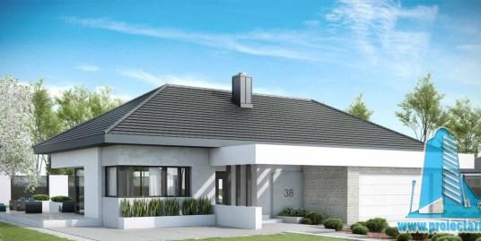 Casa cu parter si garaj pentru doua automobile– 178m2 – 101008