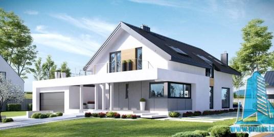 Casa cu parter, mansarda si garaj pentru doua automobile-367 m2-101056