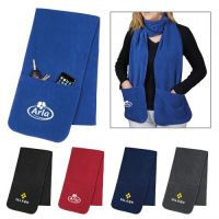 Personalized Fleece Scarf with Pockets - Scarves