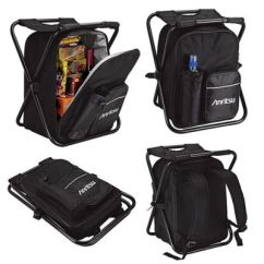Backpack Chairs Office Chair Attached Table Custom Printed Remington Cooler Bags