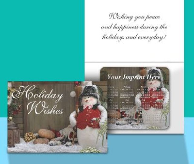 Customized Greeting Cards With Magnetic Calendar
