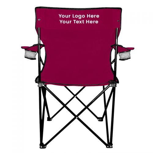 chairs in a bag portable massage chair reviews impress your clients with these folding logo custom carrying bags maroon