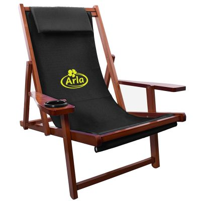 Promotional Logo Wood Sling Chairs  Folding Chairs