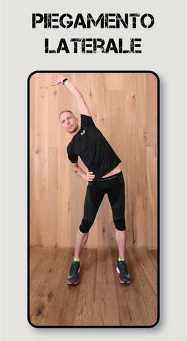 infortunio nel running: riscaldamento piegamento laterale