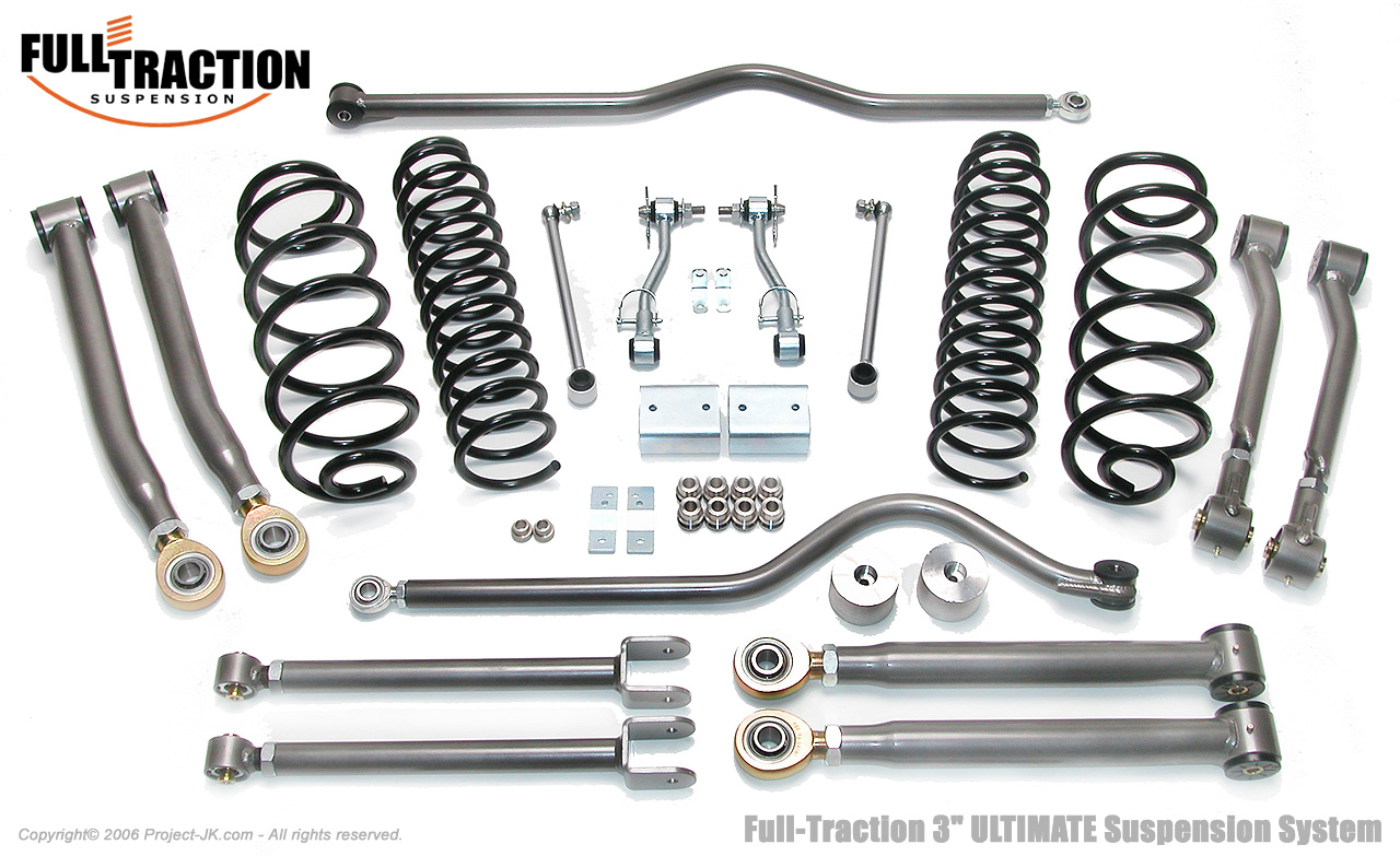 Full Traction Jeep Jk Wrangler3 Ultimate Suspension
