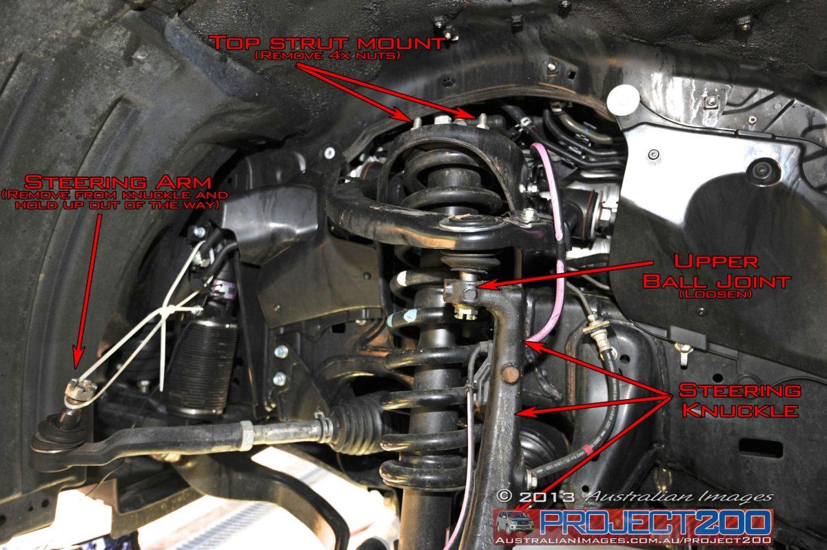Landcruiser 200 front suspension