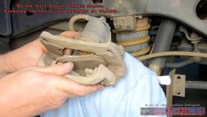 Remove rear brake pads