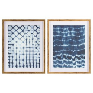 """Framed Pattern Abstract Blue 24""""x30"""" Target"""