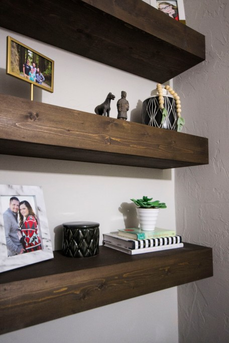 Project Allen Designs DIY Floating Shelves!