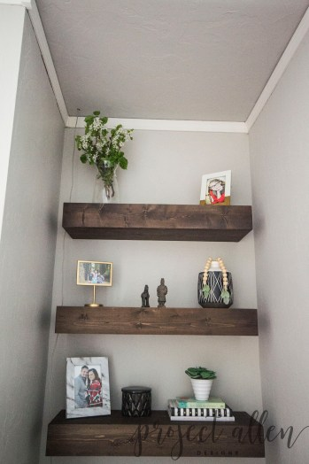 Project Allen Designs DIY Floating Shelves