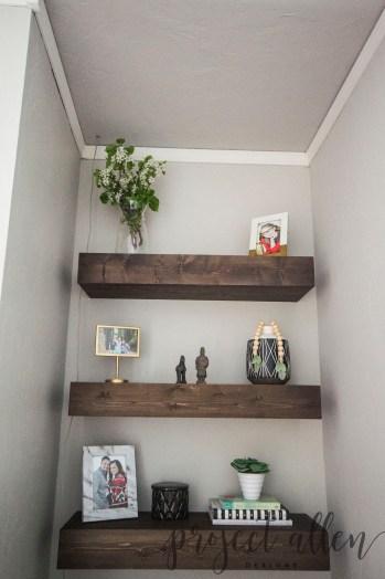 Project Allen Designs DIY Floating Shelves