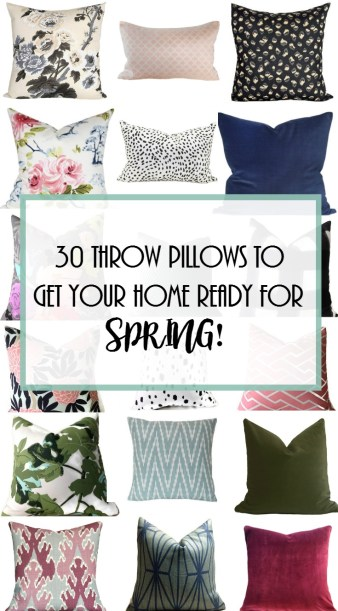 Project Allen Designs 30 Throw Pillows To Get Your Home Ready For Spring!