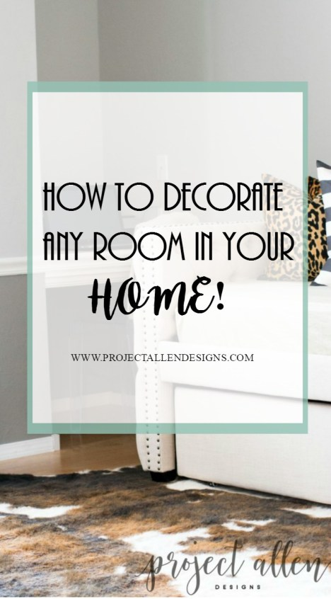 How to Decorate Any Room In Your Home, decorating tips and tricks, diy decorating, cowhide rug, tufted daybed,