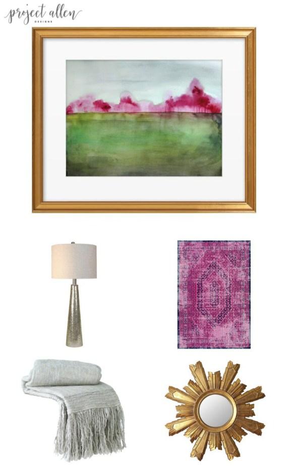 Friday Favorites,Home decor, home decor ideas, rug ideas, lighting ideas, wall art ideas, throw blanket. mirror