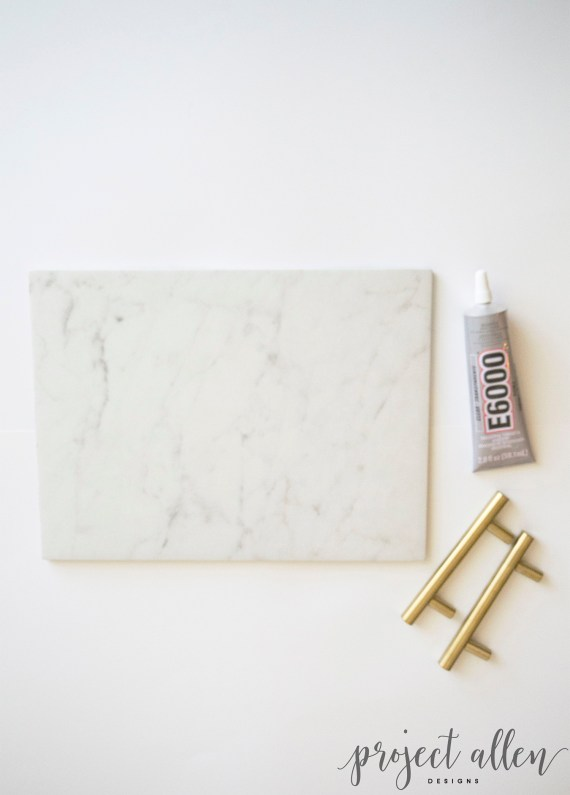 DIY Marble Tray. This super easy DIY Marble Tray will make any area look high end without the high cost.