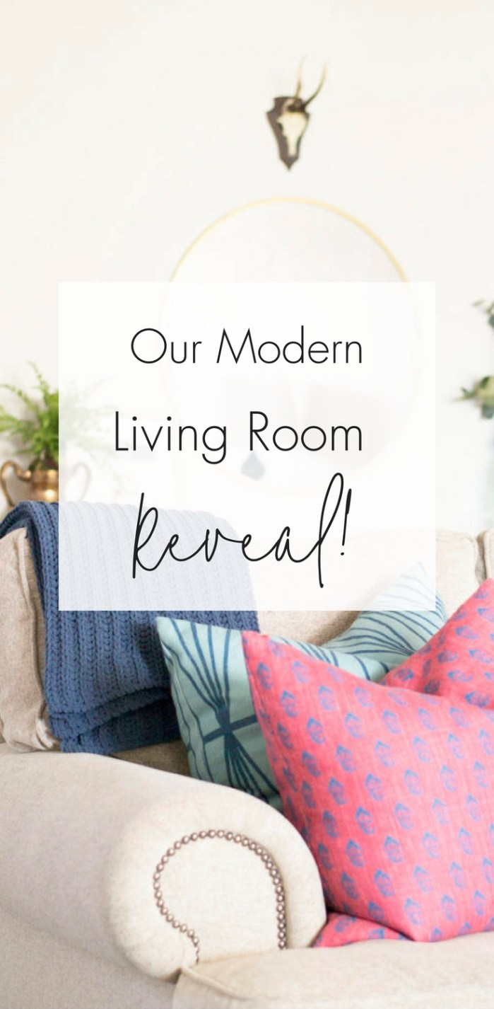 Modern Living Room Reveal | See how we completely tran