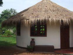 Small earthbag house.