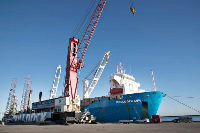 Rohde Nielsen Rolldock Sun in the Port of Grenaa