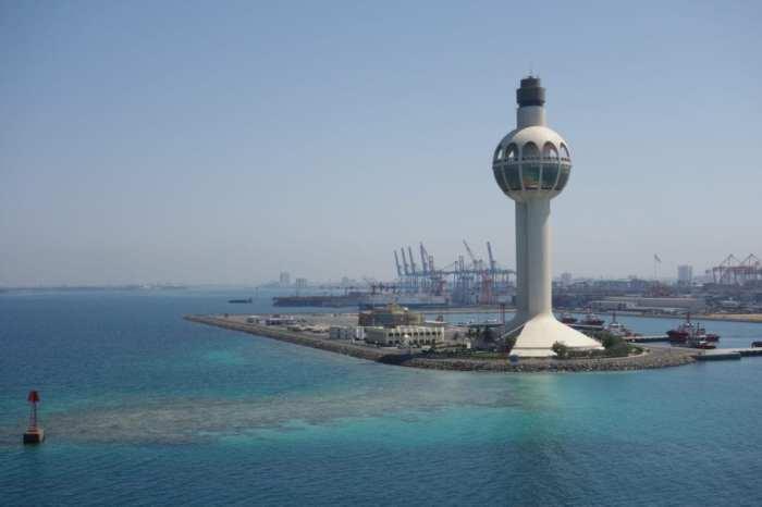 Entering the Islamic port of Jeddah, Saudi Arabia