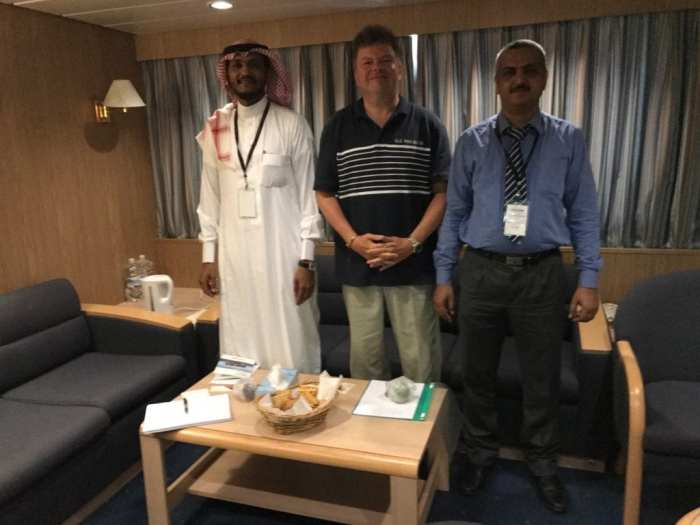 Meeting onboard with CMA CGM Jeddah office