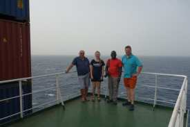 The 4 passengers onboard from left to right Mr Joe Piccinino from Malta Ms Lisa Drewsen from Finland Mr Duane Bailey-Castro of USA and Mr Bo H.Drewsen of Denmark33