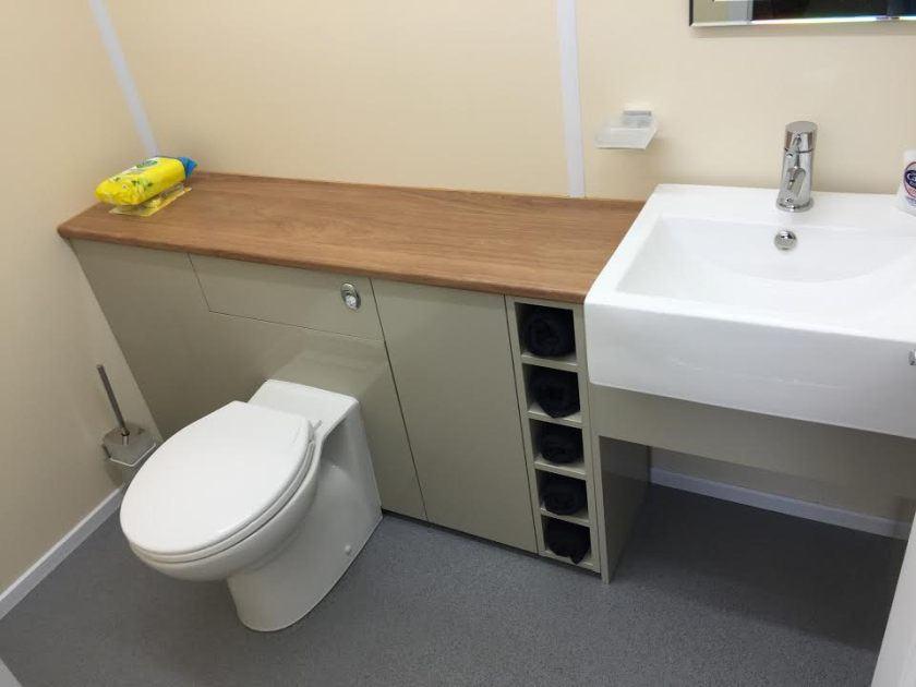 Picture for the high end internal 20ft office with toilet
