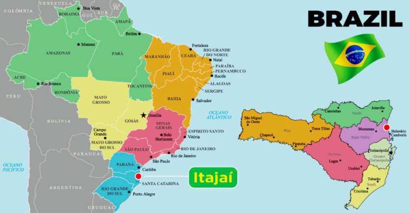 Brazil highlighting Itajai