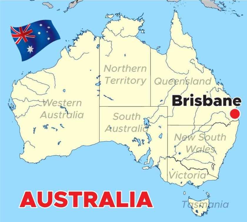 Australia-Brisbane-Map