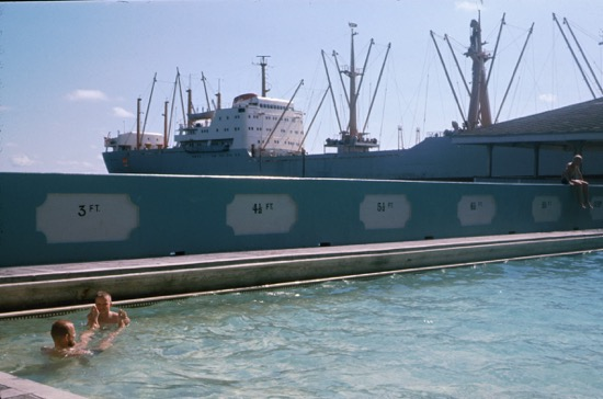 MV Thyra Torm on charter to K-Line at Kingston, Jamaica, 1968