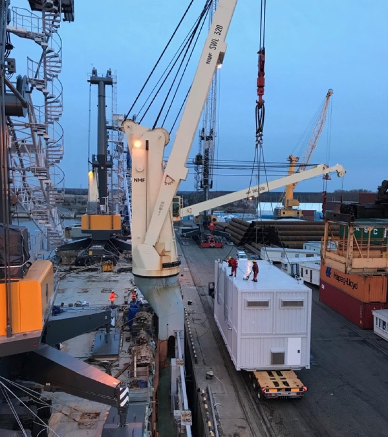 Liburnia Maritime Agency and Baltic Freight Services handled a steam boiler house at Klaipeda port.