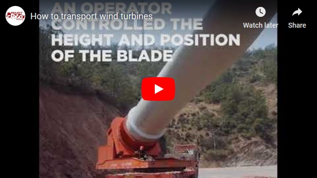 How to transport wind turbines