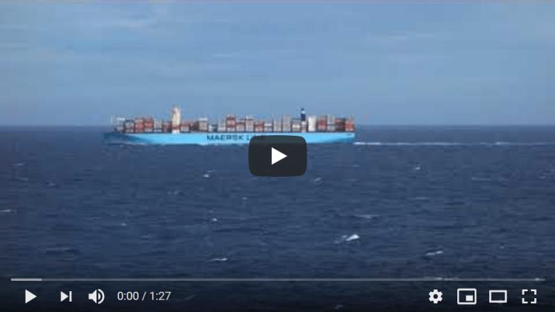 Passing an E class Maersk Line vessel