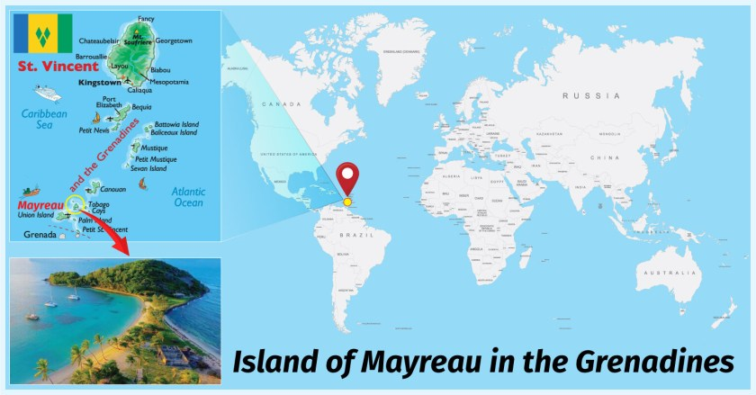 map Island of Mayreau Grenadines