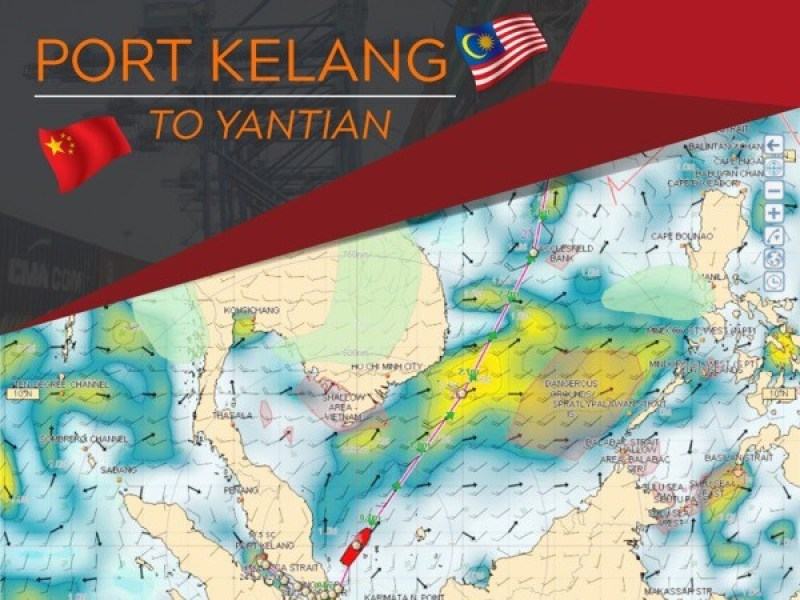 Port Kelang to Yantian