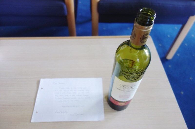 Preparing a bottle post to be sent out from the ship – I hope someone receives it!