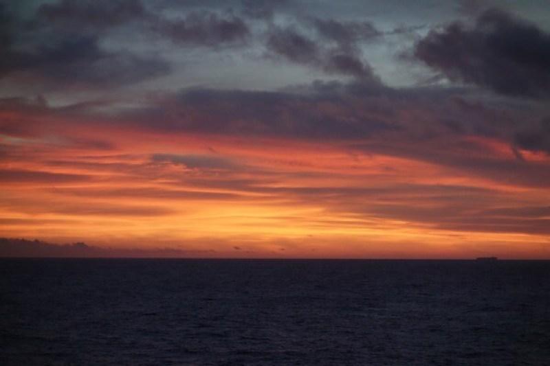 Incredible sunset near the Taiwan strait.