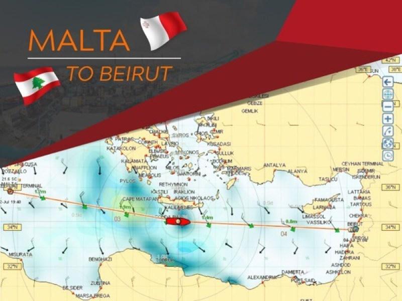 Malta to Beirut