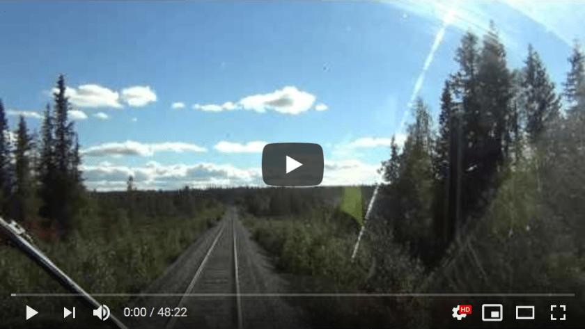 Train Driver's View: Inlandsbanan 2 (Sweden)