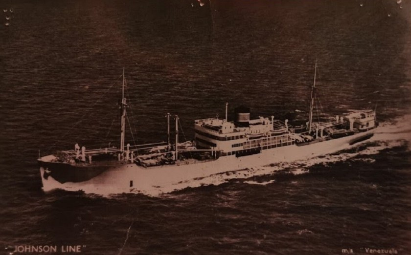 MV VENEZUELA OF JOHNSON LINE SWEDEN TAKEN IN 1966