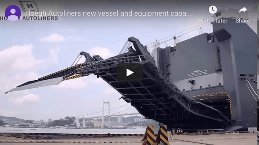 Hoegh Autoliners New Vessel and Equipment Capabilities