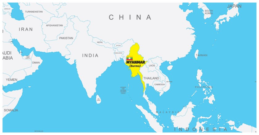 Myanmar on the Map