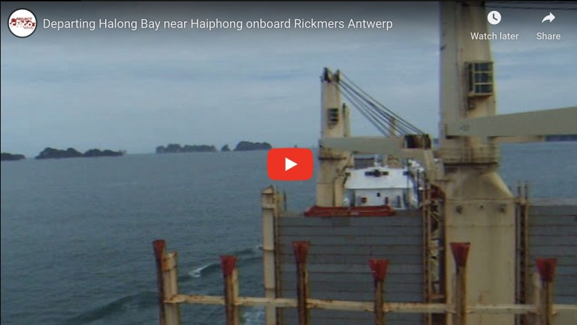 Departing Halong Bay Near Haiphong Onboard Rickmers Antwerp