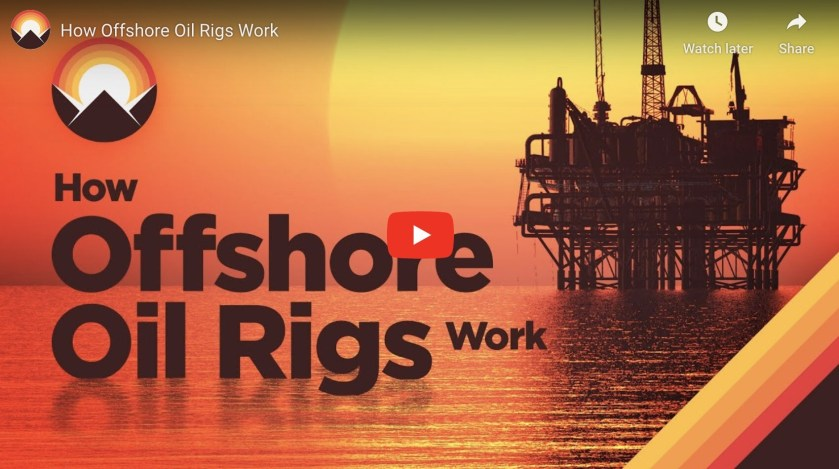 How oil rigs work - video