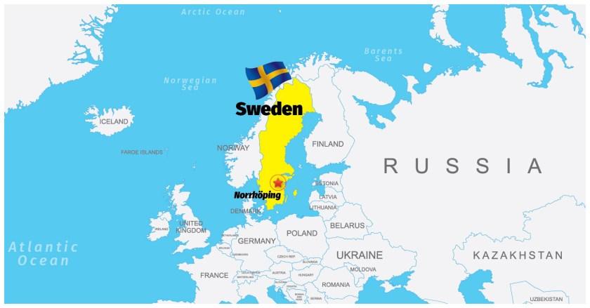 Sweden-Norrköping Map