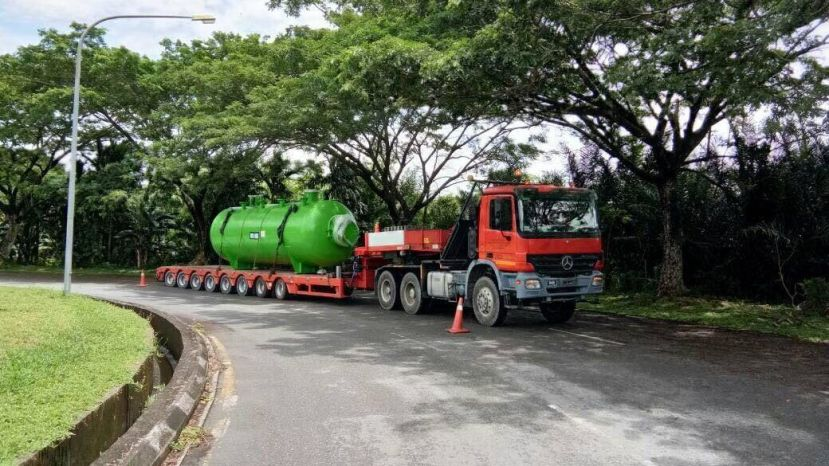 Jasra Logistics Transportation of Pressure Vessel from Miri Port, Sarawak to Brunei Refinery