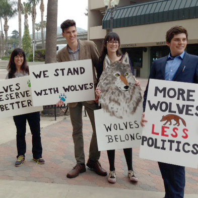 Grant McComb rallies youth to support wolves in California