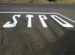 pavement marking spelling mistake