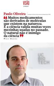 Interview to Dr. Paulo Oliveira at Revista Visão